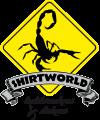 Shirtworld logo mit banner